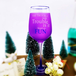 Birthday painted wine glasses painted personalized wine glasses manufacture