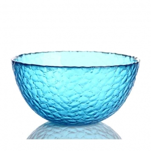 Blue glass salad mixing bowls wholesale