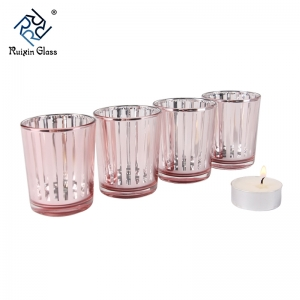 CD017 New Fashion Custom Logo Glass Tea Light Candle Holder Supplier From China