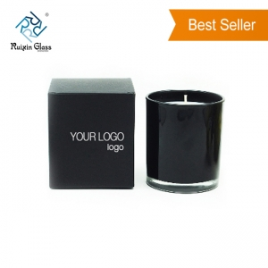 CD026 Wholesale Matte Black Candle Jar