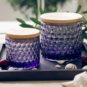 CD25 Wholesale Candle Jars With Wooden Lids