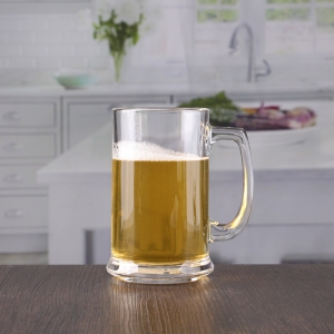 China 400ml beer tankard glass with handle wholesale