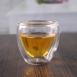China 60ml small double wall insulated glasses mugs wholesale
