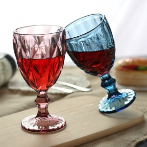 China colored glass cups factory colored glass shot glasses supplier
