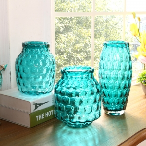 China decor vases manufacturer blue vases for sale small round vases wholesale