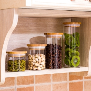China different types glass kitchen jars supplier