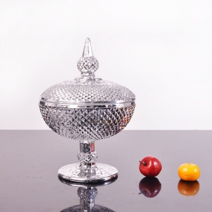 China electroplating glass supplier, silver electroplating glass candy bowl, silver plating glass manufacturer