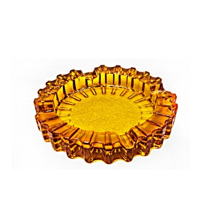 China factory price promotion round carved glass ashtray and glass ashtray manufacturer