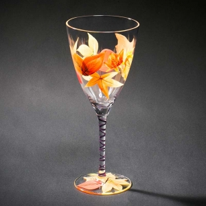China glass stemware manufacturer,hand painted wine glass supplier customized painted wine glasses exporter