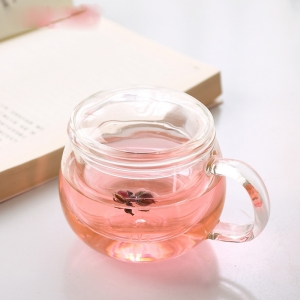 China glass tea cups with handle factory,transparent tea cups supplier