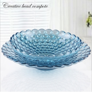 China hot sale electroplating round fruit plate wholesale