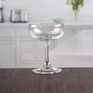 China inexpensive round champagne glassware short stem crystal champagne saucer wholesale