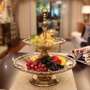 China new double plated glass fruit bowl wholesale