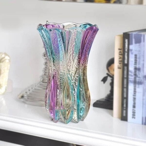 China popular decorative vases coloured glass vases,glass vases for sale wholesale