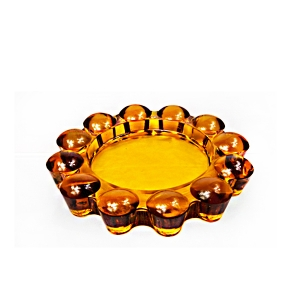 China round carved glass ashtray manufacturer