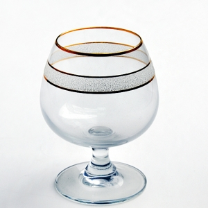 China supplier hot selling gold rim brandy glass and gold rim brandy cup supplier