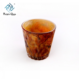 China tealight holder supplier wholesales spray paint inside tealight holder for home decor
