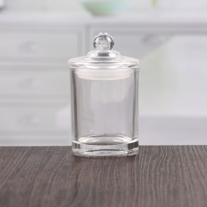 China transparent small glass jar with dome lid suppliers