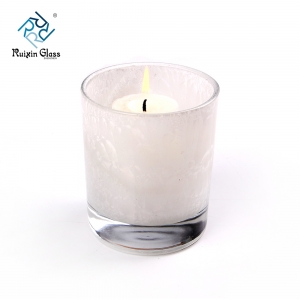 China white glass candlestick factory and supplier