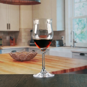 China wine glass factory 285ml Irregular shaped red wine glasses wholesale