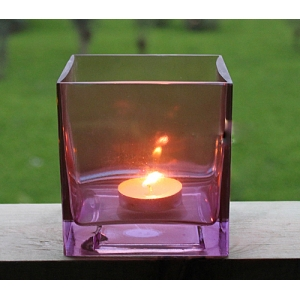 Colored Glass Candle Holders Manufacturer Clear Glass