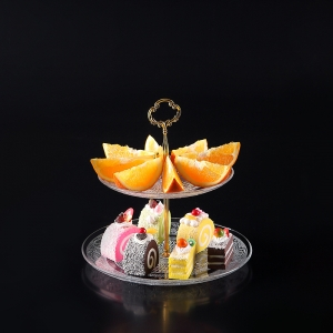 Creative glass three-tier fruit plate wholesale,clear glass bowls wholesale
