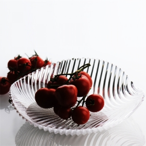Crystal glass fruit dish manufacturer,fruit plate wholesale