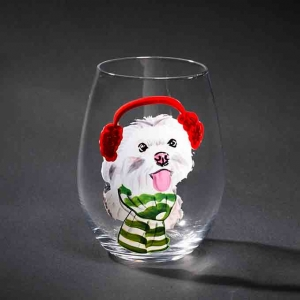 Cute hand painted tumblers small drinking glasses wholesaler