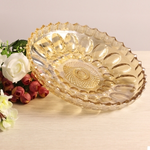 European style crystal colorful dry fruit tray wholesale