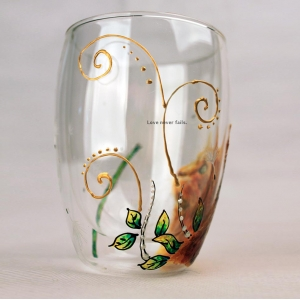 Glass cup factory stained glass art and hand painted personalized wine glasses wholesale
