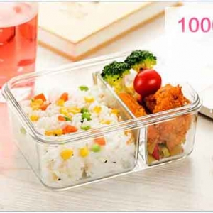 High quality clear Glass food boxes with lid supplier