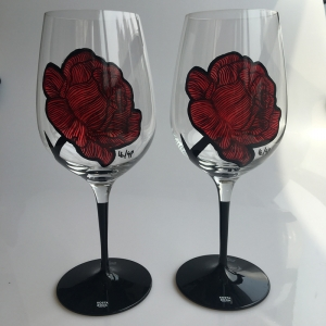 Hand painted stemware and wine glass paintings wholesale glass cup designs manufacturer