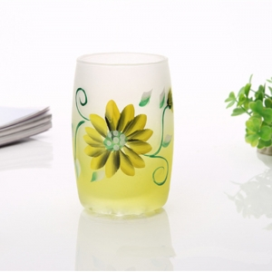 Handpainted wine glass|cool drinking glasses|hand painted flower wine glasses manufacturer