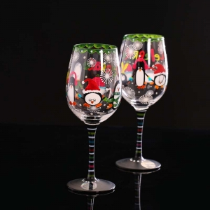 Hand painted wine glasses and glass cup manufacturer contemporary wine glasses supplier