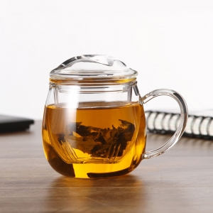 Heat resistant clear tea cup with lids wholesale