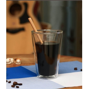 Heat resistant double glass cup double wall drinking glasses double wall coffee mugs exporters