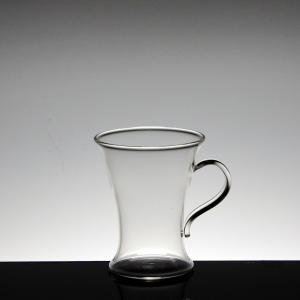 High borosilicate glass tea cup with handle china manufacturer