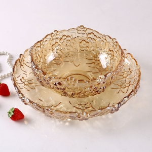 High grade crystal plum fruit dish fruit bucket wholesale