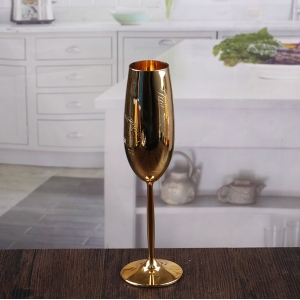 High quality champagne flutes with gold trim wholesale