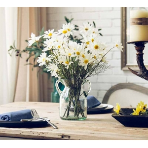 Home decoration small white vase for wholesale