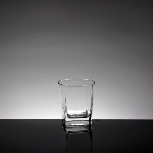 Hot selling square tumbler small glass cups and whiskey glass wholesaler