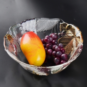 Irregular glass dish,glass fruit bowl supplier glass cup manufacturer