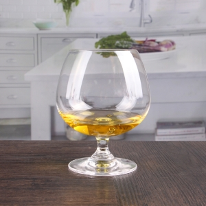 Lead free crystal cut  brandy glasses wholesale
