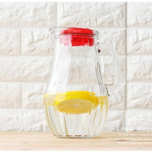 Lead free transparent glass cold water pot set wholesale