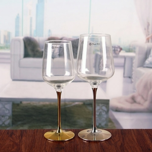 Metal stem red wine cup gold stem wine glasses large Large wine glasses cheap