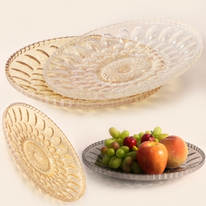 New product electroplated glass plate, electroplating process pating oval point glass and fruit plate suppliers