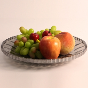 New product pating oval point glass and electroplated glass plate for fruit suppliers