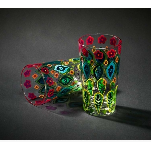 Painted drinking glasses and painted glass cup wholesale painted glasses supplier