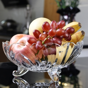 Personalized glass fruit bowl with stand wholesale