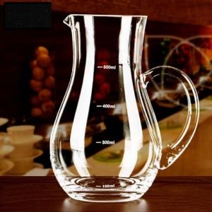 Restaurant supplies trumpet drinking vessel cheap decanter for wine